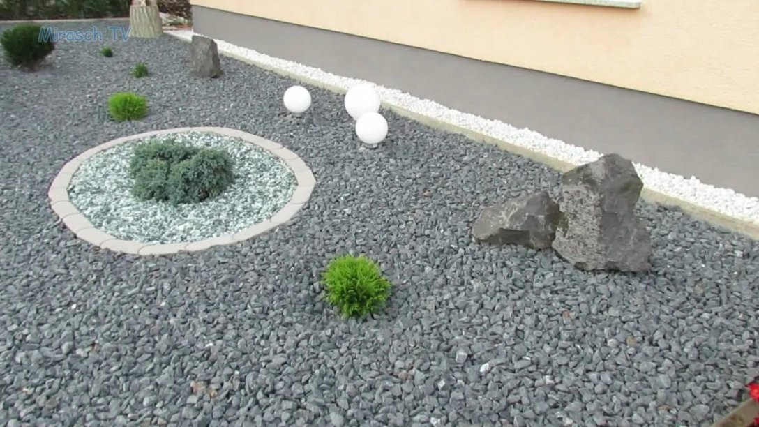 Vorgarten Mit Kies Gestalten  Youtube von Garten Splitt Steine Photo