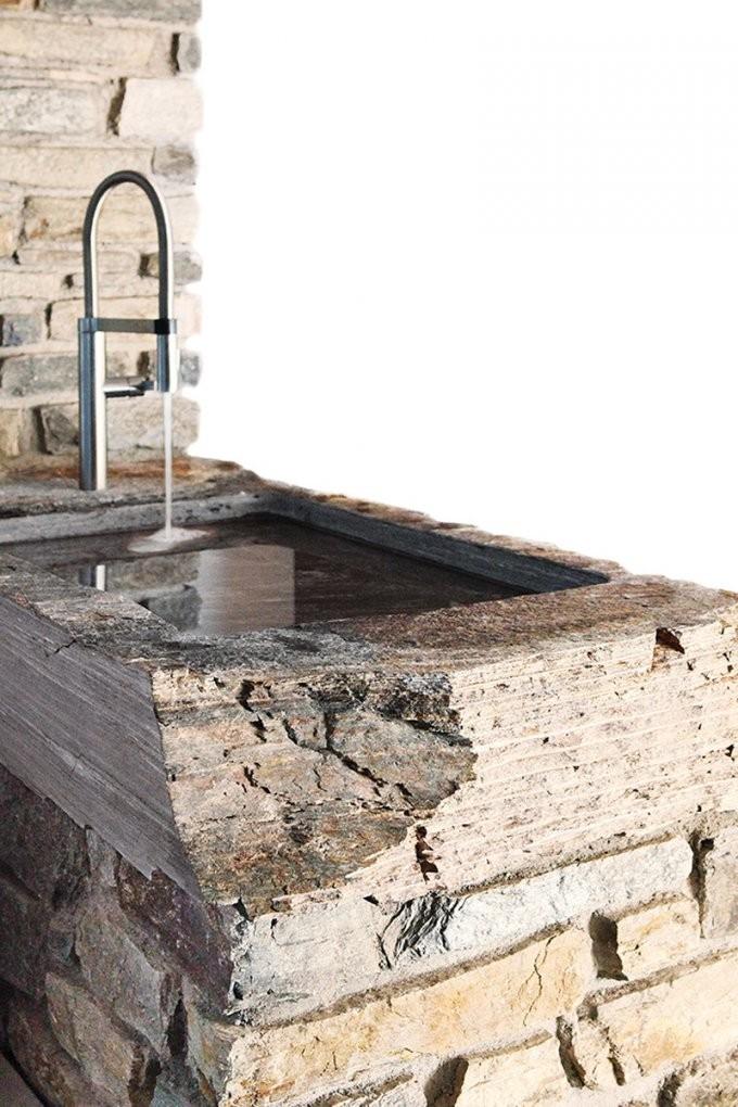 Waschbecken Naturstein Aufsatzbecken Massive Waschtische von Garten Waschbecken Stein Bild