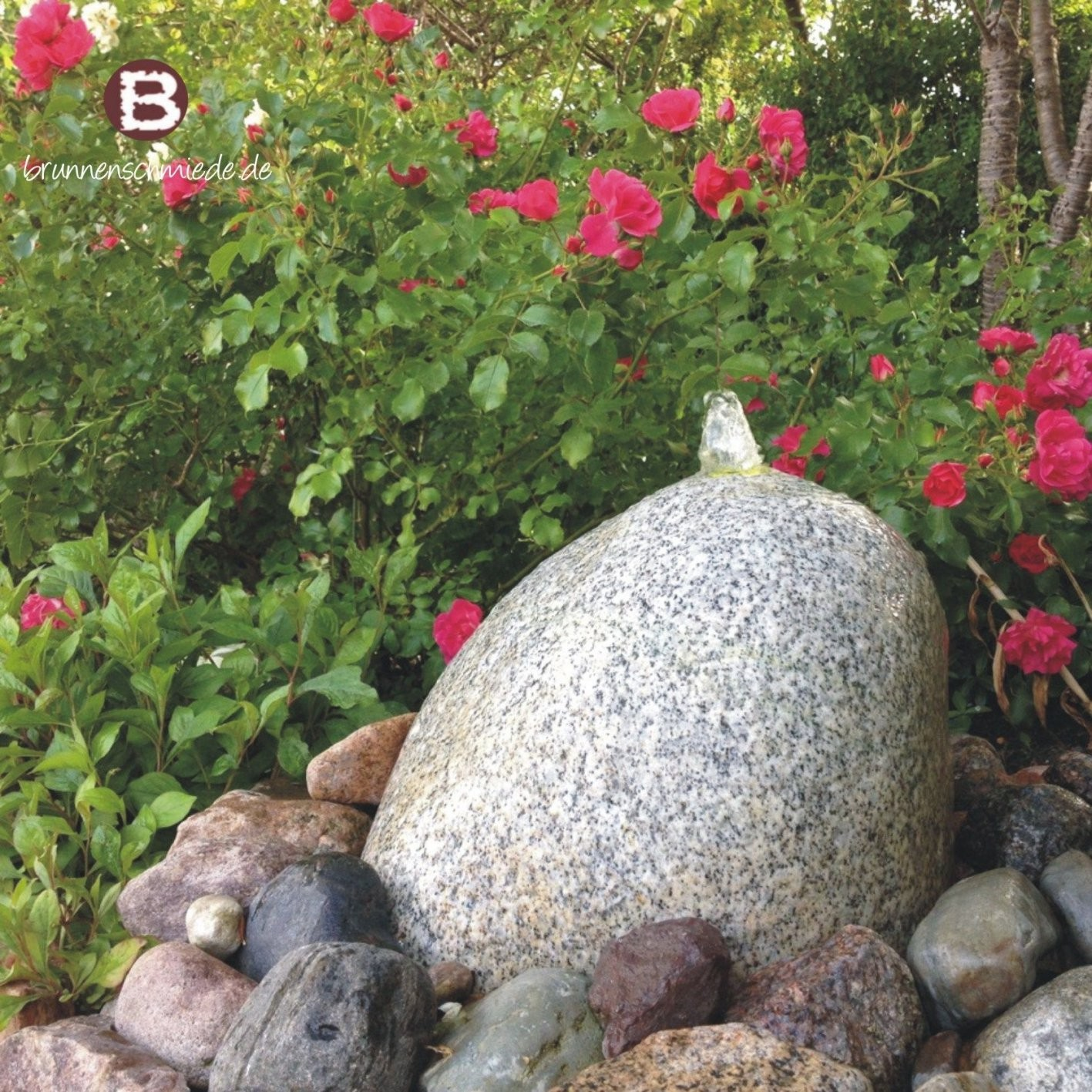 Wasserspiel ☯ Brunnen ☯ Naturstein ☯ Quellstein ☯ Granit von Wasserspiel Garten Stein Bild