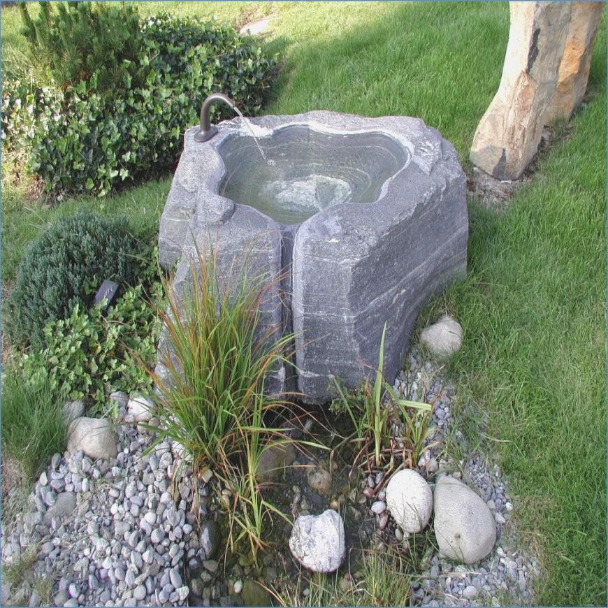 Wasserspiel Im Garten Selber Bauen  Wohndesign von Wasserspiel Garten Stein Bild