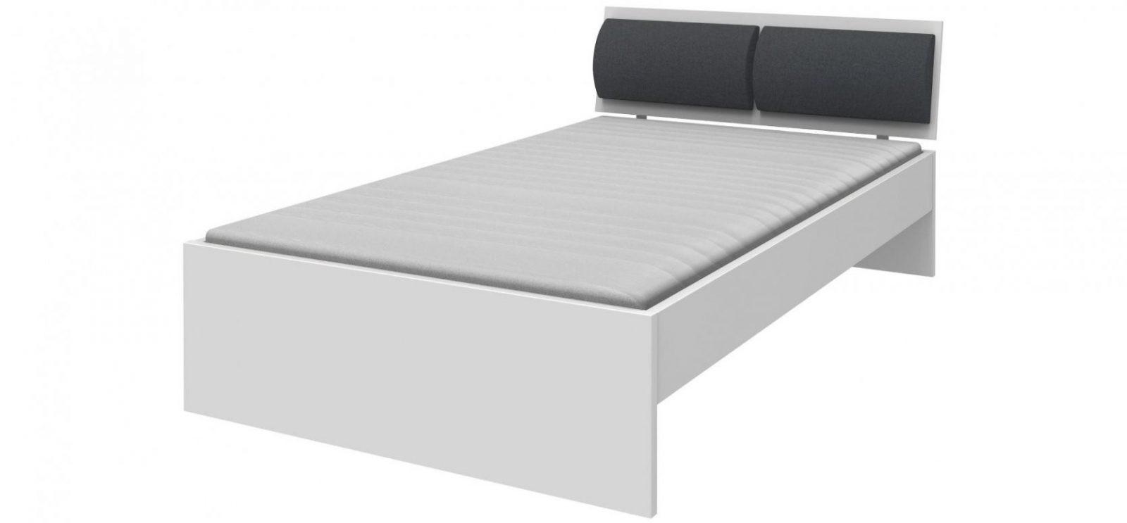 Weißes Bett Mit Polsterkopfteil In Grau Liegefläche Ca 120X200 Cm von Weißes Bett 120X200 Bild