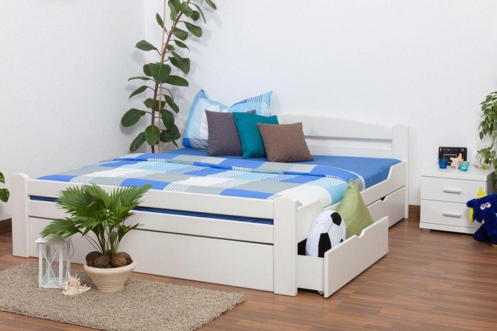 Weißes Buche Bett 180 X 200 Cm Weiß Massiv Höhe (Cm) 7330 Länge von Weißes Bett 180X200 Bild