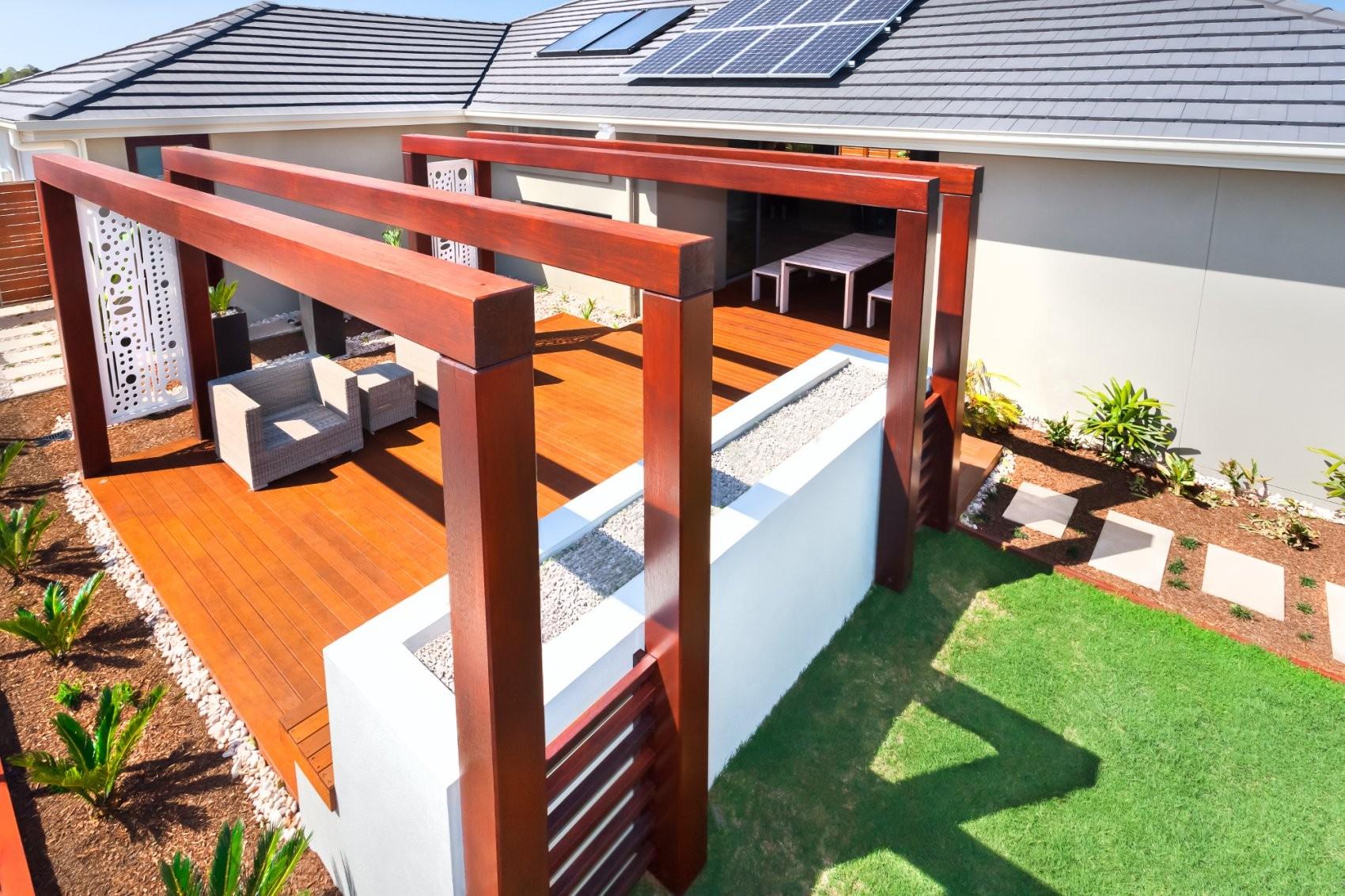 Welche Und Wie Viele Stützen Benötigt Eine Terrassenüberdachung von Freistehende Terrassenüberdachung Selber Bauen Bild