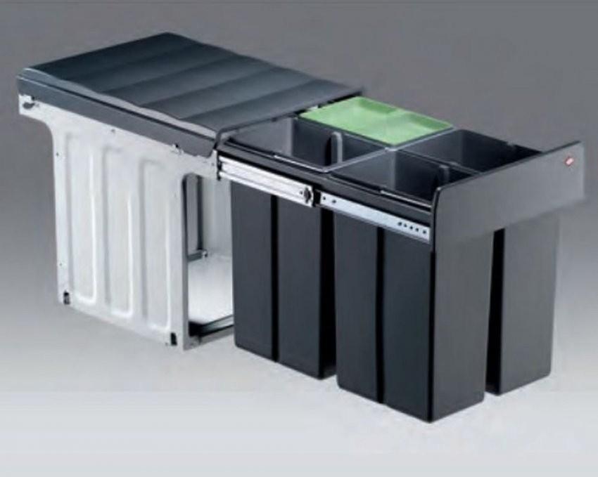Wesco Bio Quartett 4 X 10 Liter Küchen Abfall Mülleimer 4Fach von Mülleimer Küche Trennung Bild