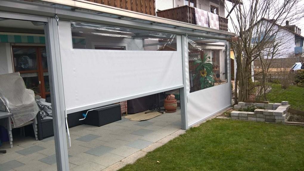 Wetterschutzrolloshersteller In D Und Pl von Terrasse Seitenwand Selber Bauen Photo
