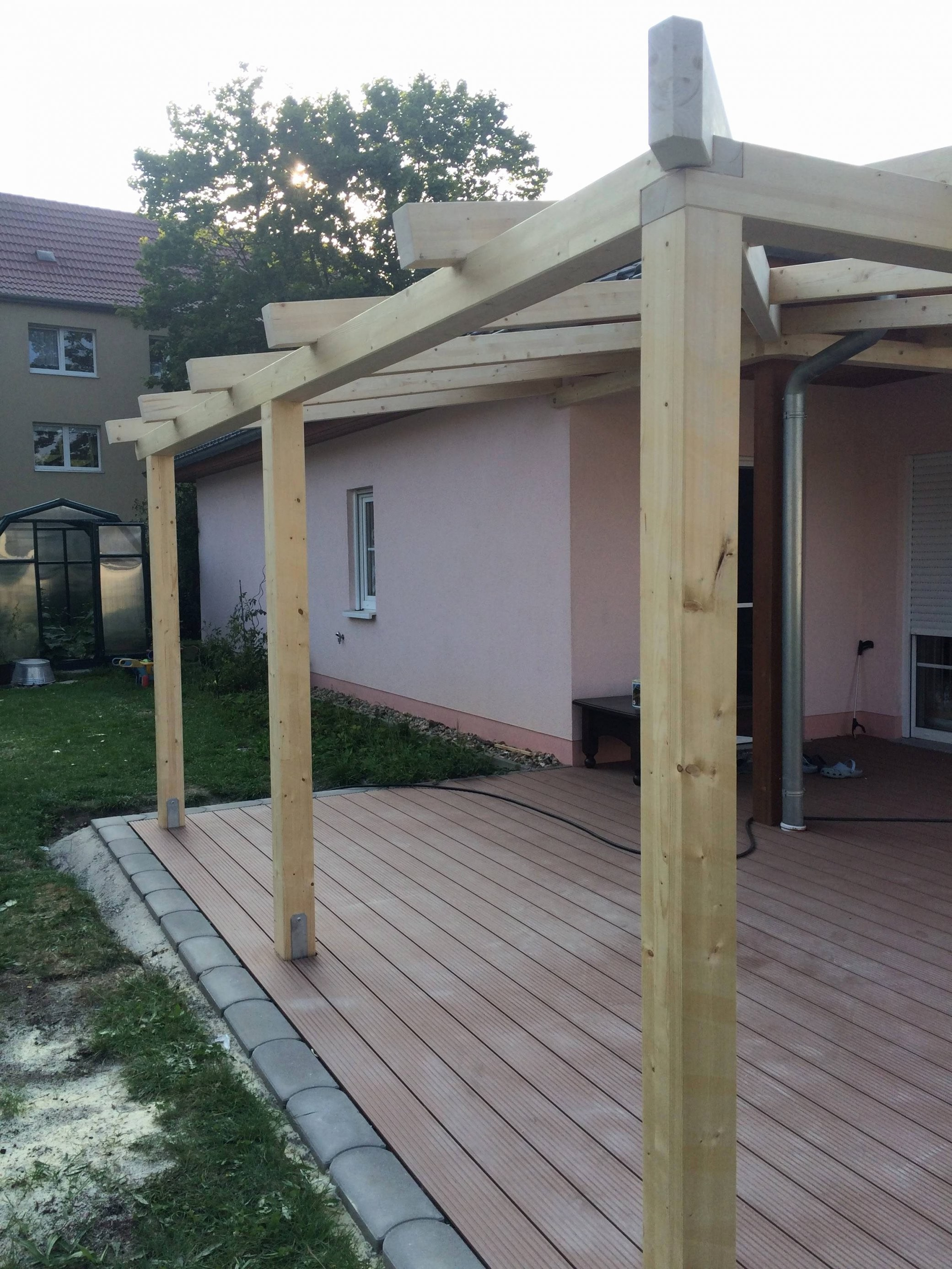 Wie Baue Ich Eine Terrassenüberdachung Jedes 22 Inspirierend von Terrassenüberdachung Selber Bauen Anleitung Bild