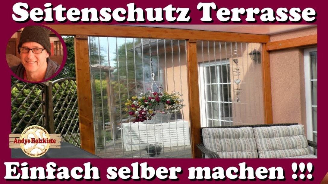 Windschutz Wetterschutz Und Sichtschutz Für Terrasse Selber Machen von Terrasse Seitenwand Selber Bauen Photo