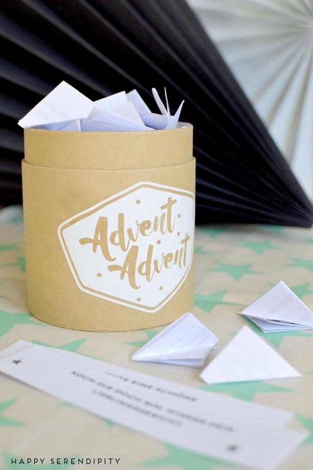 Wohlfühladventskalender Zum Ausdrucken  Adventskalender Basteln von Adventskalender Mit Sprüchen Selber Machen Bild