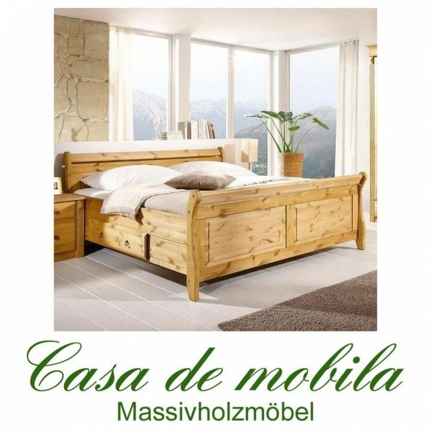 Wunderbar Betten Im Landhausstil Massivholz Bett 200×200 Dora Kiefer von Bett 200X200 Landhausstil Bild