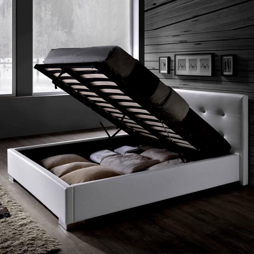 Wunderbar Polsterbett Leder 140X200 Design Bett Loft Schwarz Inkl von Bett 140X200 Weiß Kunstleder Photo