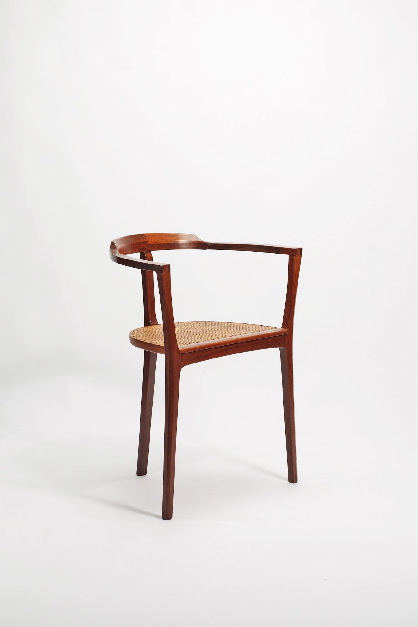 Xaver Seemüller; Wood And Cane Armchair 1965  E S E R I von Stühle Modernes Design Photo