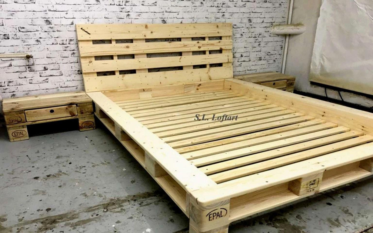 016 Bett Ideen Palettenbett Bauen 140X200 Mit Lattenrost Das Beste von Europaletten Bett Bauen 140X200 Bild