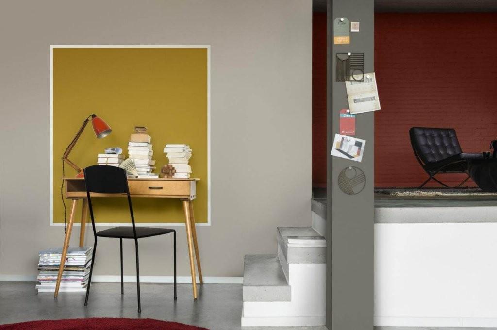11 Ideen Für Die Ungewöhnliche Wandgestaltung  Deco Home von Wandfarbe Gold Farbe Wandgestaltung Photo