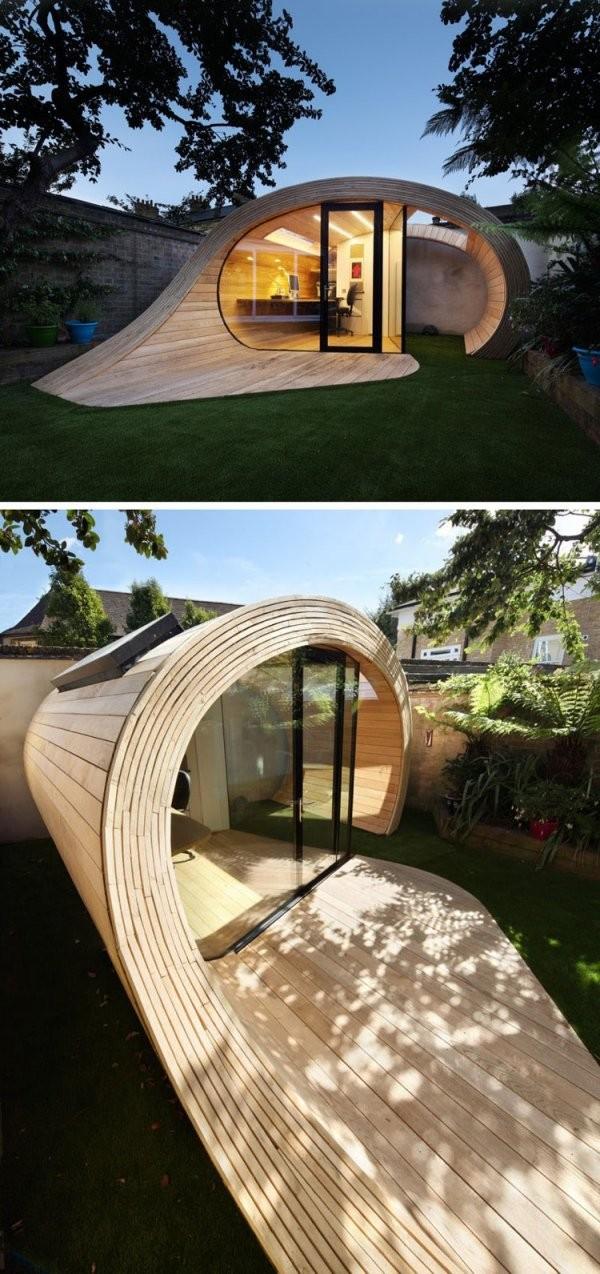 14 Moderne Gartenhäuser Wo Man In Ruhe Arbeiten Oder Wohnen Kann von Moderne Gartenhäuser Aus Holz Bild