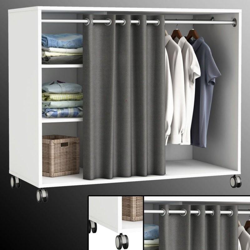15 Kleiderschrank Offen Vorhang Elegant  Lqaff von Schrank Vorhang Statt Tür Photo