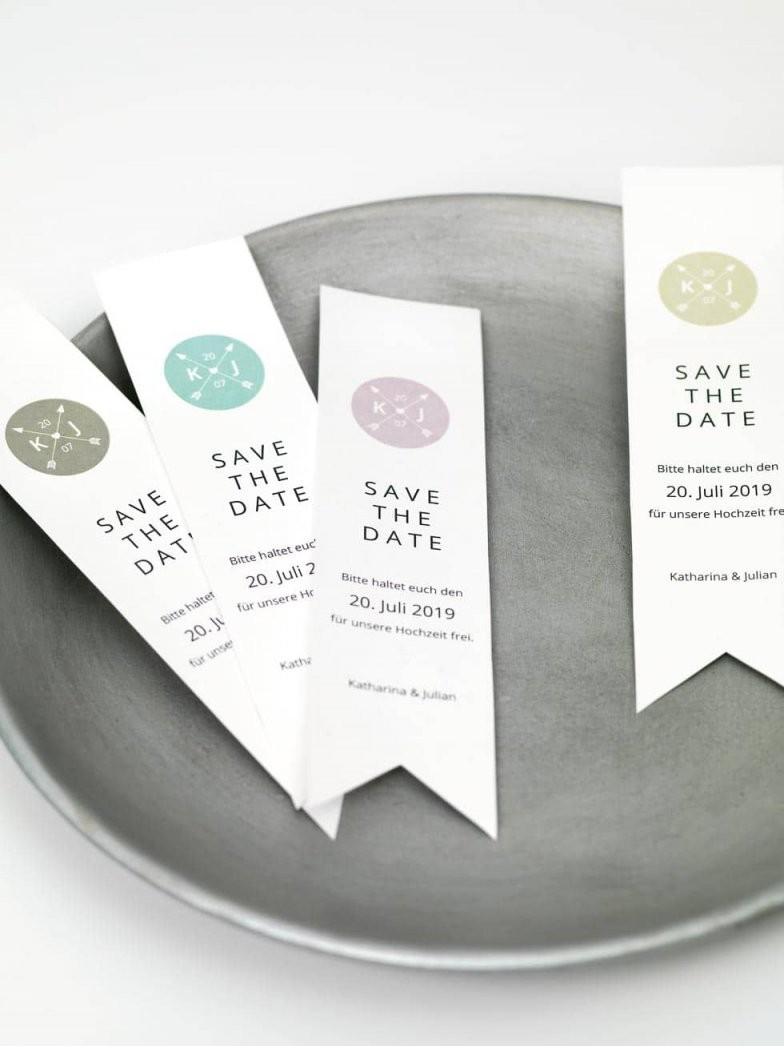 15 Savethedate Diyvorlagen Für Eure Hochzeit von Save The Date Karten Basteln Bild