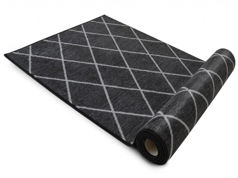1A Teppichläufer Cosenza  Schwarz  80 Cm X 200 C  Real von Teppich Läufer 80 X 200 Photo