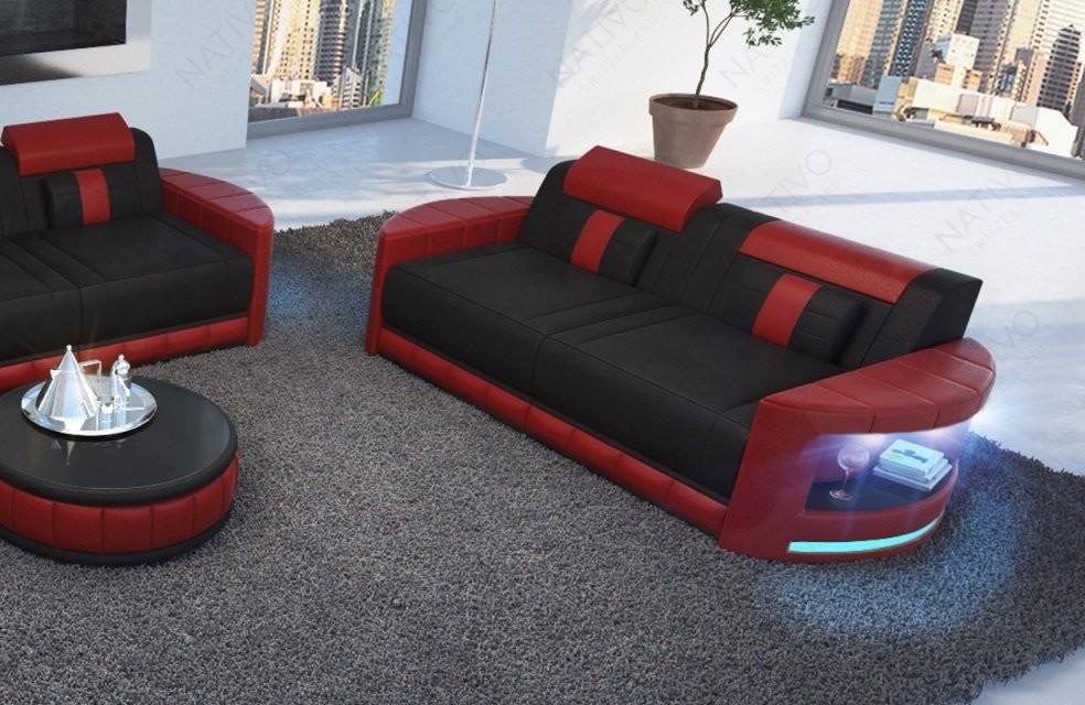 2 Sitzer Atlantis Moderne Preiswerte Ledercouch Von Nativo Kaufen von Couch Mit Led Beleuchtung Photo