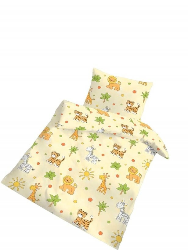 2 Tlg Kinder Baby Bettwäsche 100X135 Cm Gelb Afrika  Real von Bettwäsche Afrika Baumwolle Bild