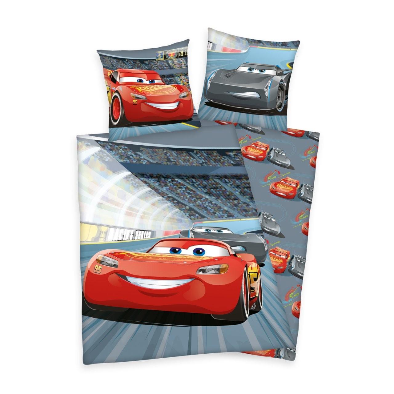 2 Tlg Renforce Kinder Bettwäsche 135X200 Cm Disney's Cars 3 1 von Bettwäsche Cars 135X200 Bild