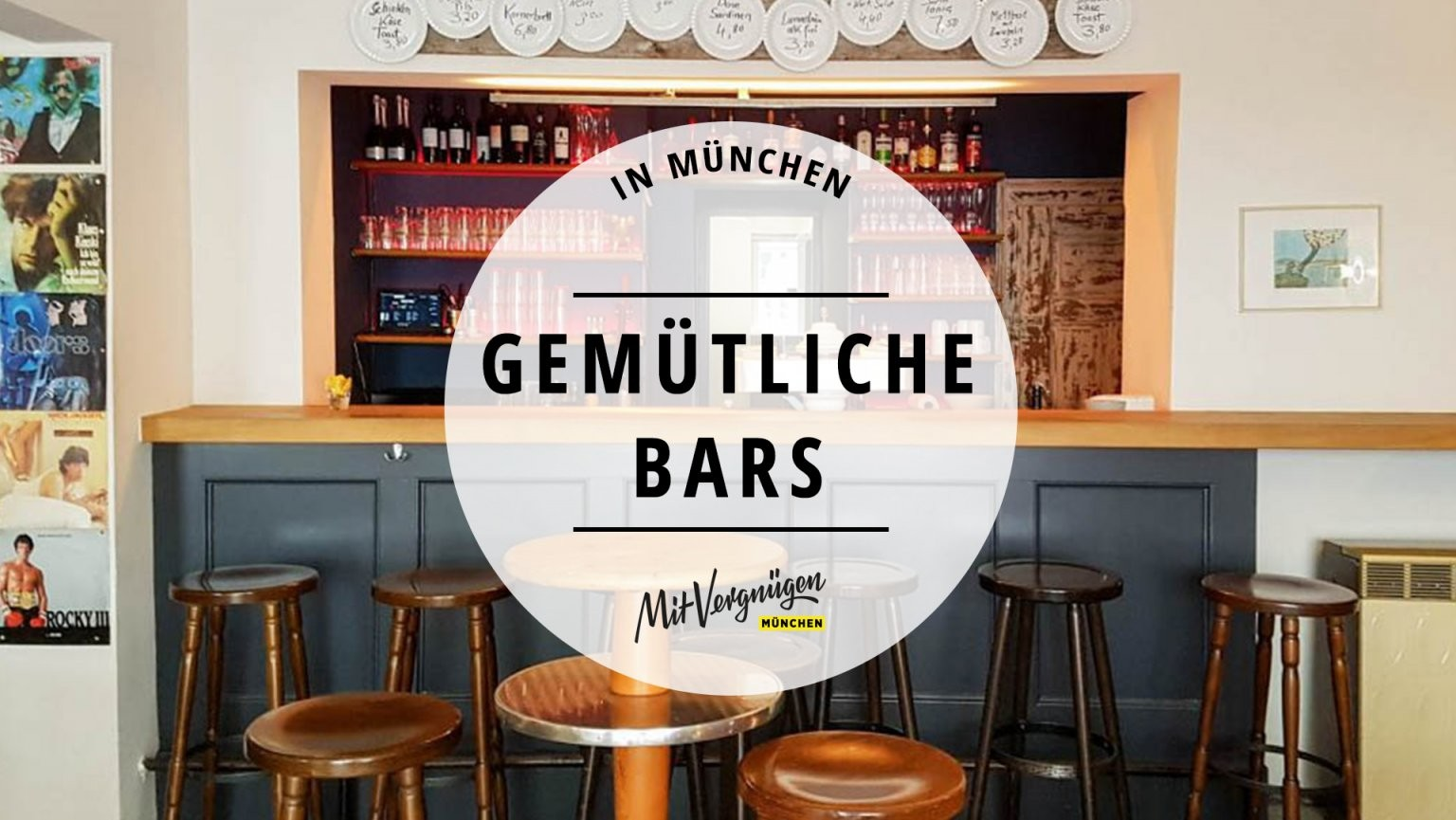 21 Gemütliche Bars In München Ohne Schickimicki  Mit Vergnügen München von Kleine Bar Fürs Wohnzimmer Bild