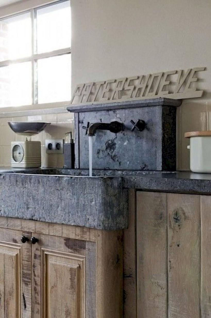 26 Bauernküche Spülbecken Ideen Und Designs Für 2018 Bauernkuche von Rustikale Küche Selber Bauen Photo