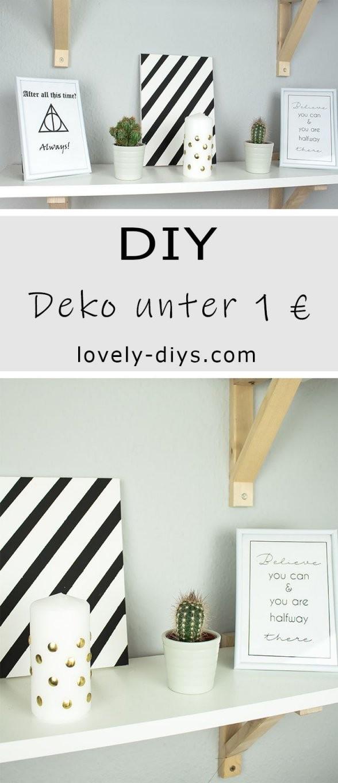 3 Schöne Diy Deko Ideen Unter 1 Euro  Basteln  Selbermachen  Diy von Coole Deko Für Die Wohnung Photo