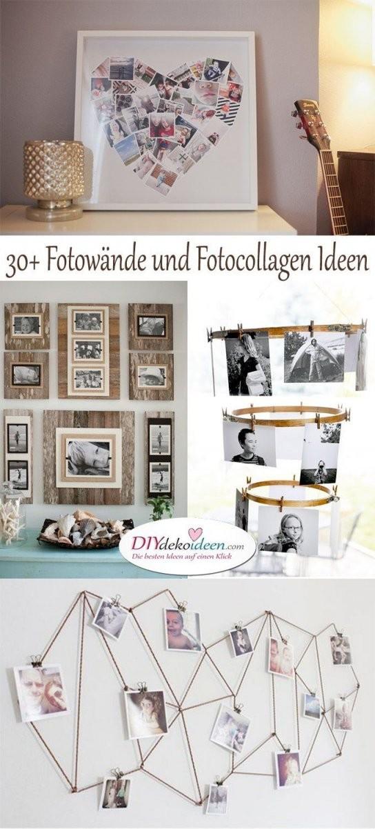 30+ Fotowände Und Fotocollagen Ideen  Fotowand  Fotowand Wand von Fotocollage Selber Machen Ideen Photo