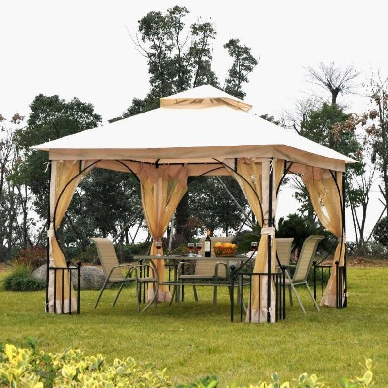 31 Schön Pavillon Holz Garten von Pavillon Selber Bauen Flachdach Bild