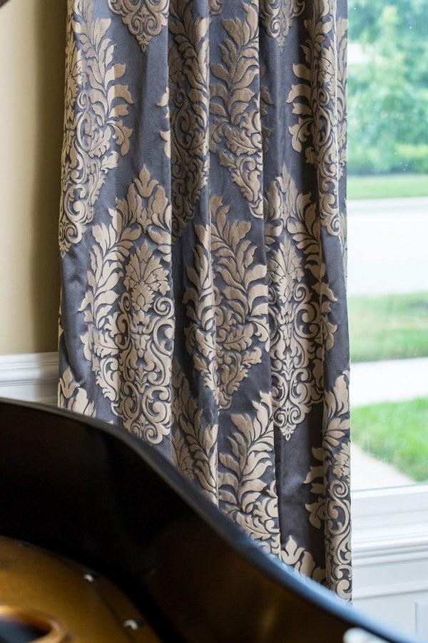 35 Barock Gardinen Und Vorhänge Mit Edlen Mustern von Gardinen Muster Für Wohnzimmer Photo
