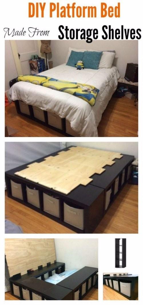 35 Diy Plattformbetten Für Ein Eindrucksvolles Schlafzimmer von Bett Mit Stufen Selber Bauen Photo