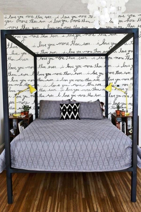 37 Wand Ideen Zum Selbermachen  Schlafzimmer Streichen von Wandgestaltung Schlafzimmer Selber Machen Photo