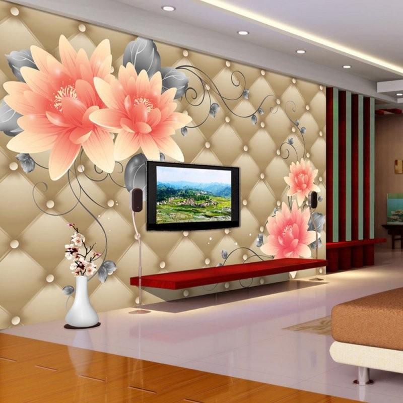 3D Geprägte Blume Wandbild Fototapete Für Wohnzimmer Schlafzimmer von Grosse Bilder Fürs Wohnzimmer Photo