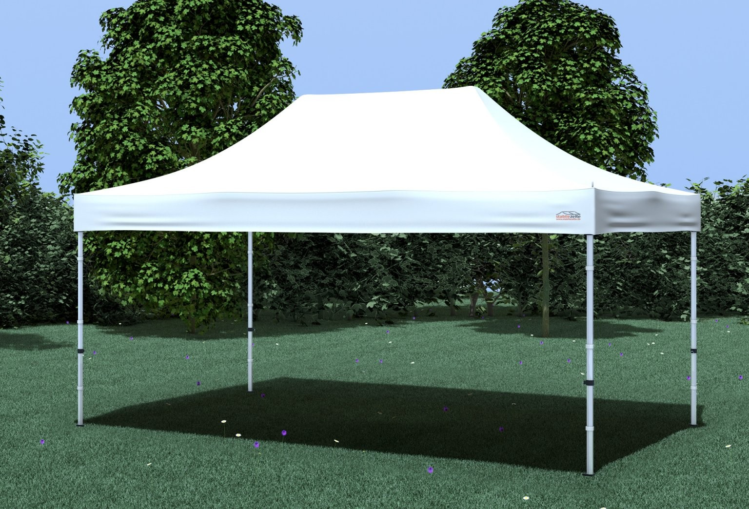 3X45 M Faltpavillon Professional Polyester 330 Gm² Weiß von Faltpavillon 3X4 5 Wasserdicht Bild