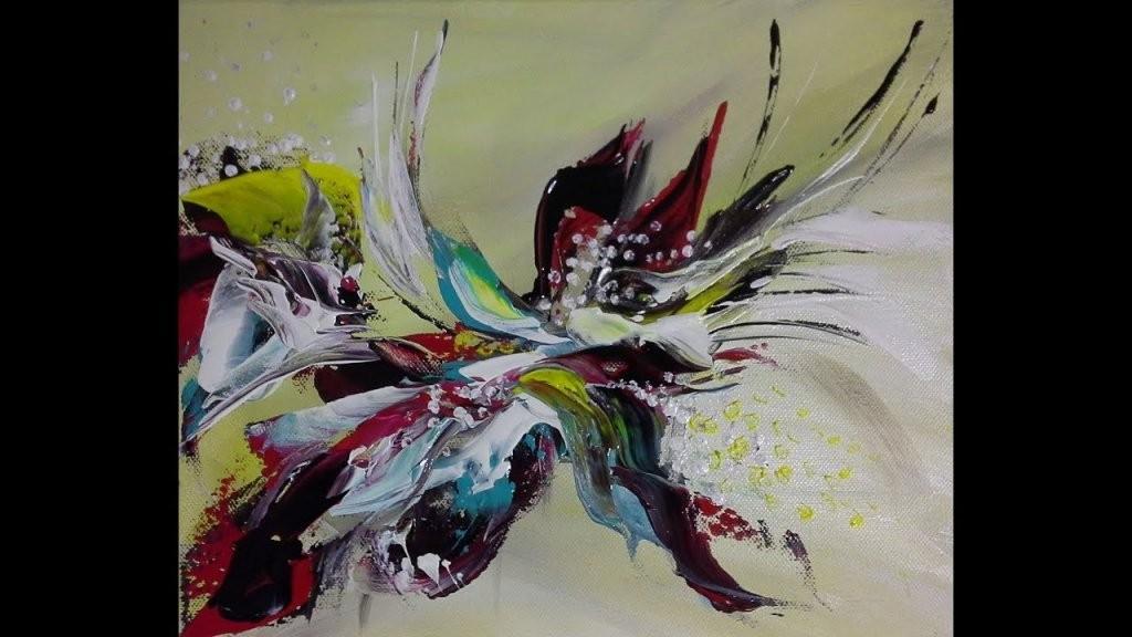 4 Schritteabstraktes Bildfür Anfänger4 Stepsabstract Painting von Abstrakt Malen Für Anfänger Photo
