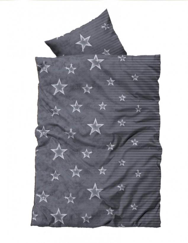 4 Teilig Thermofleece Bettwäsche 155X220 Cm Über  Real von Bettwäsche Sterne Grau 155X220 Bild
