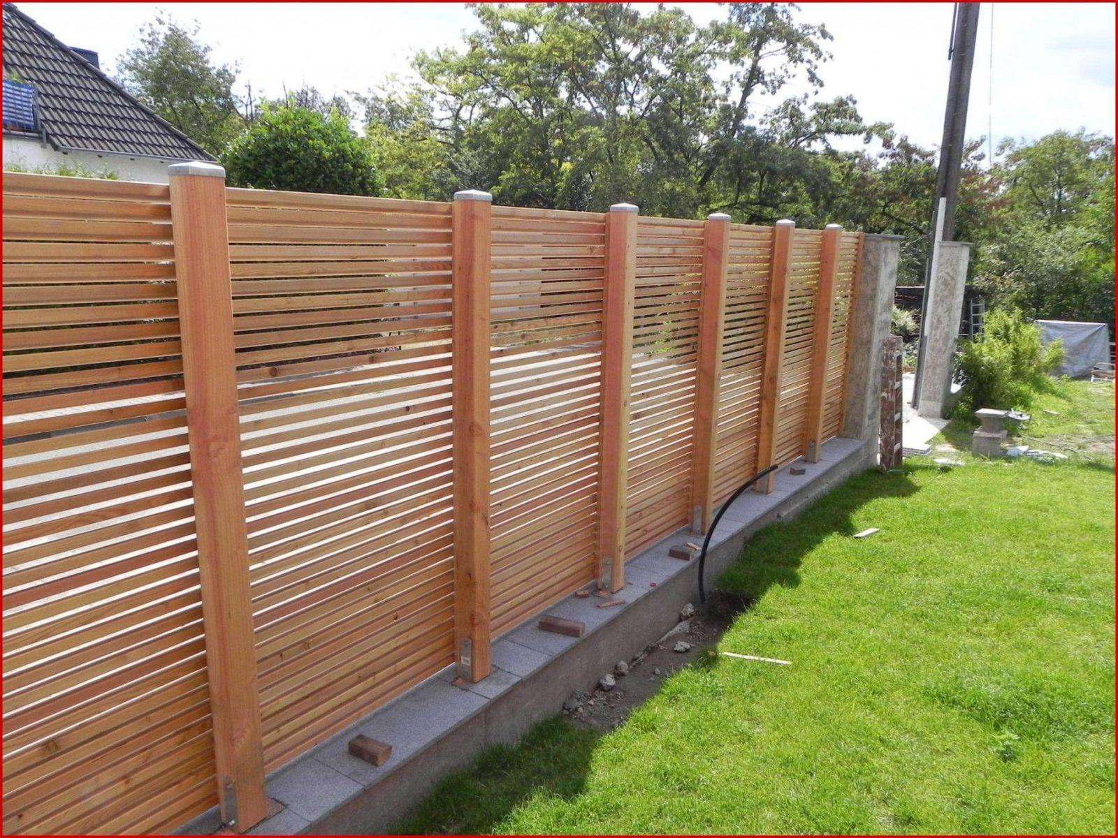 42 Frisch Zaun Selber Bauen Holz Foto  Komplette Ideen Privatsphäre von Sichtschutz Lärche Selber Bauen Photo