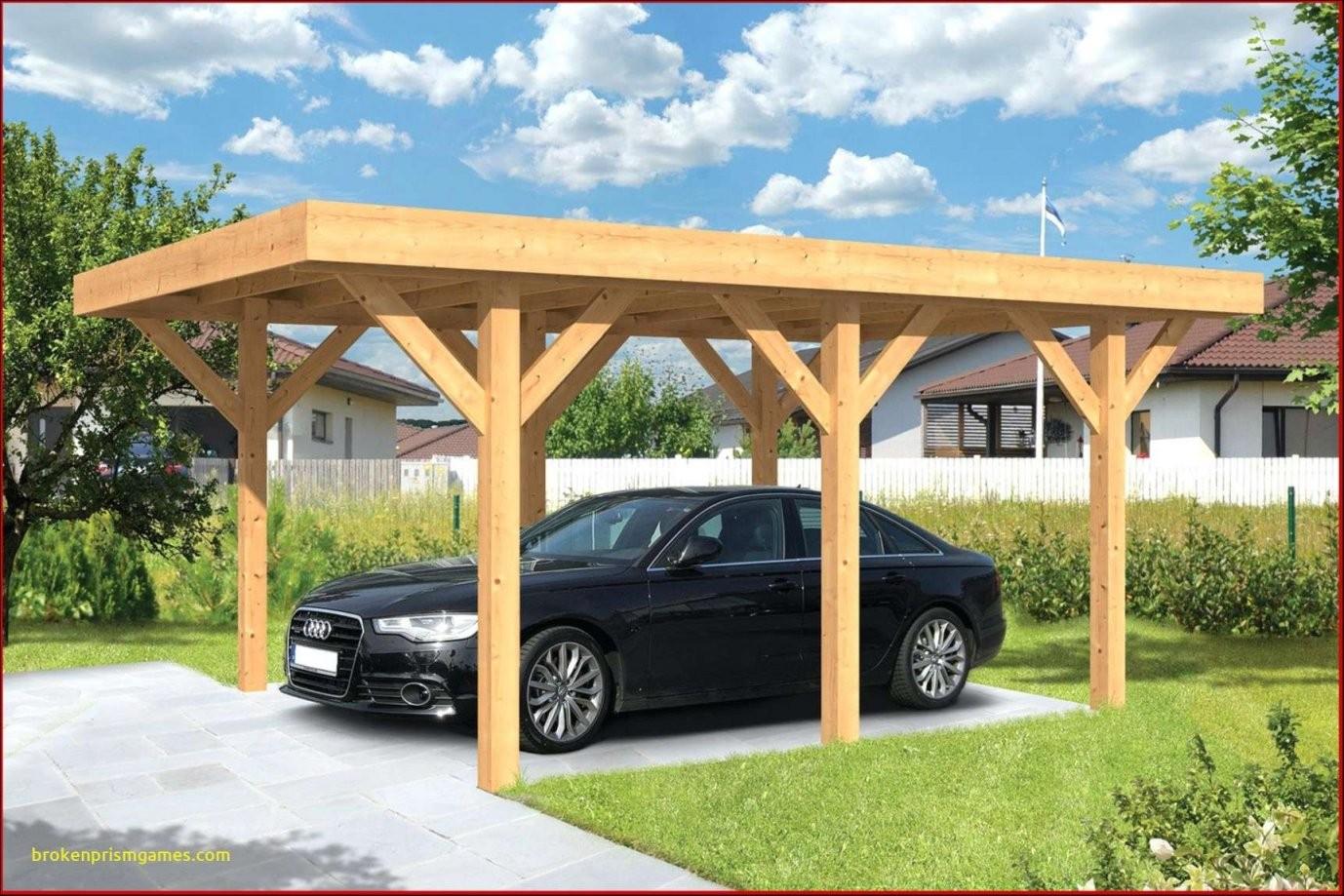45 Kollektion Carport Selber Bauen Pic  Vervollständigen Sie Die von Pavillon Selber Bauen Flachdach Bild