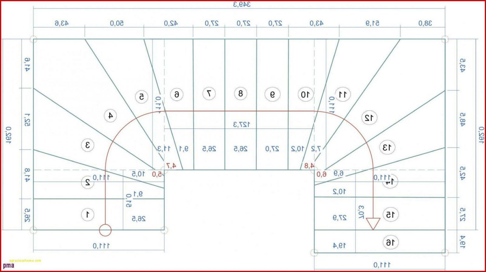 45 Schön Halbgewendelte Treppe Grafik  Vervollständigen Sie Die von Treppe Mit Podest Berechnen Photo