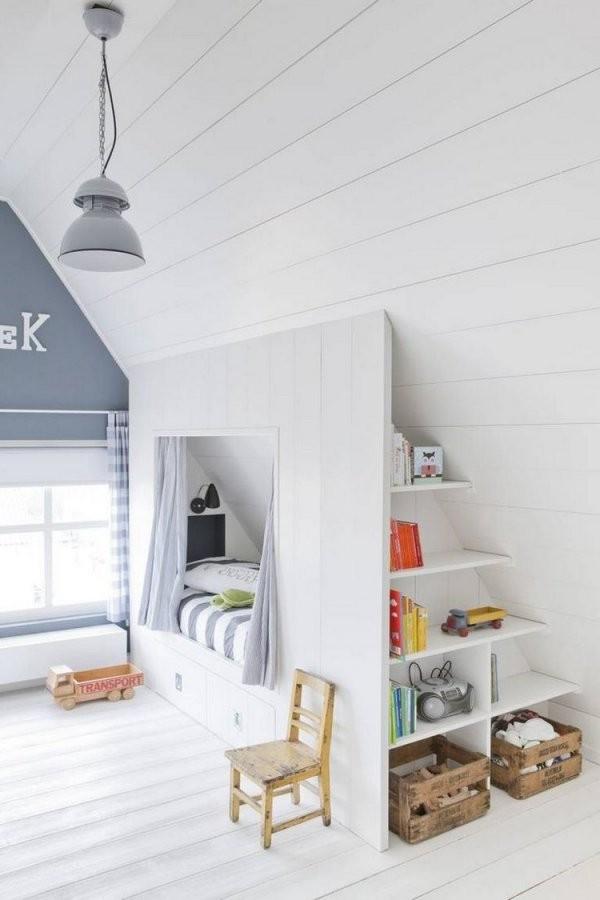 55 Dachschräge Ideen  Möbel Geschickt Im Raum Platzieren von Fototapete Für Schräge Wände Bild