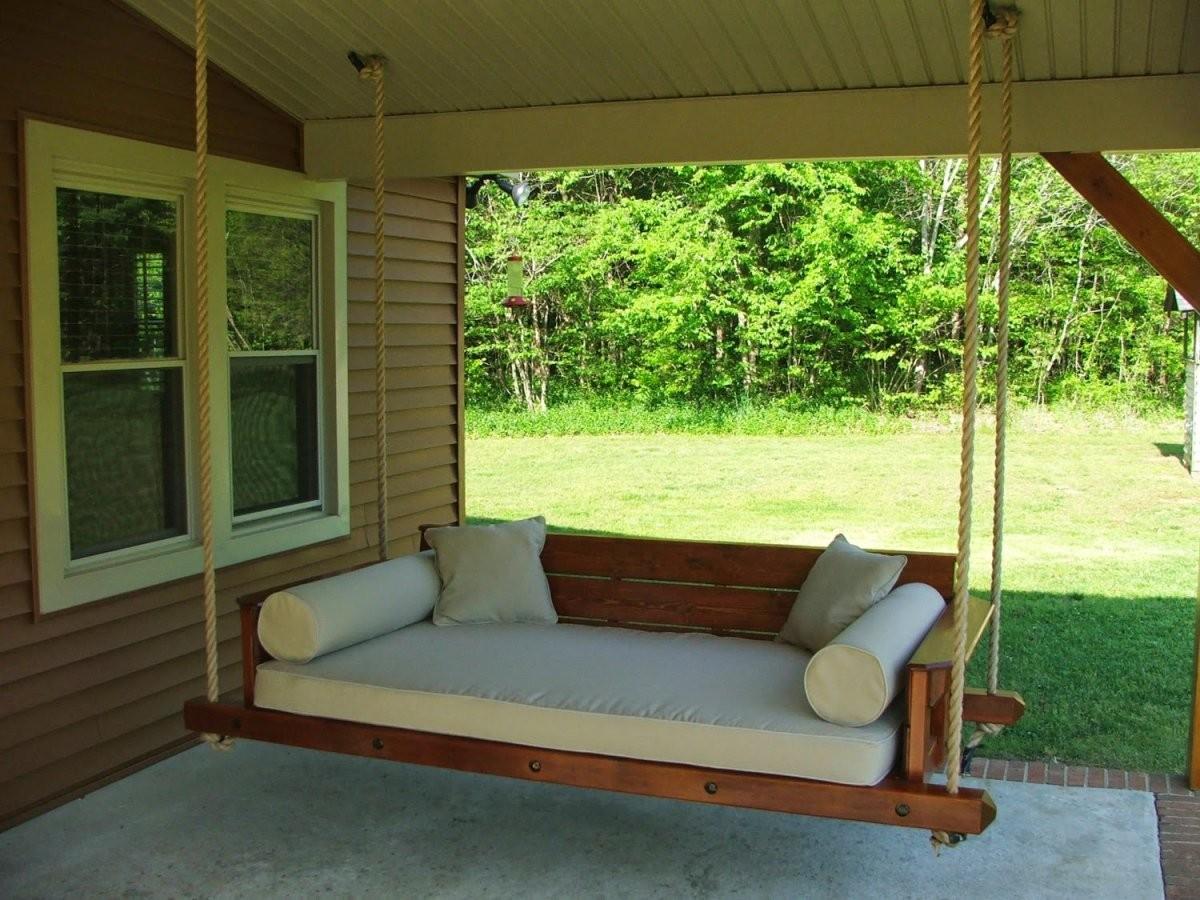 59 Pergola Swings Ideas Round Metal Porch Swing Frame von Round Porch Swing Bed Bild