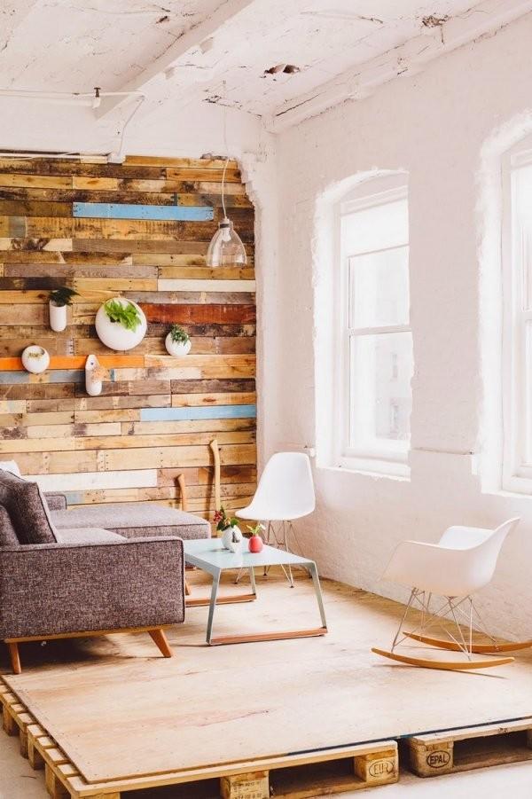 60 Wohnideen Mit Europaletten  Palettenmöbel Selber Bauen von Podest Bett Aus Paletten Photo