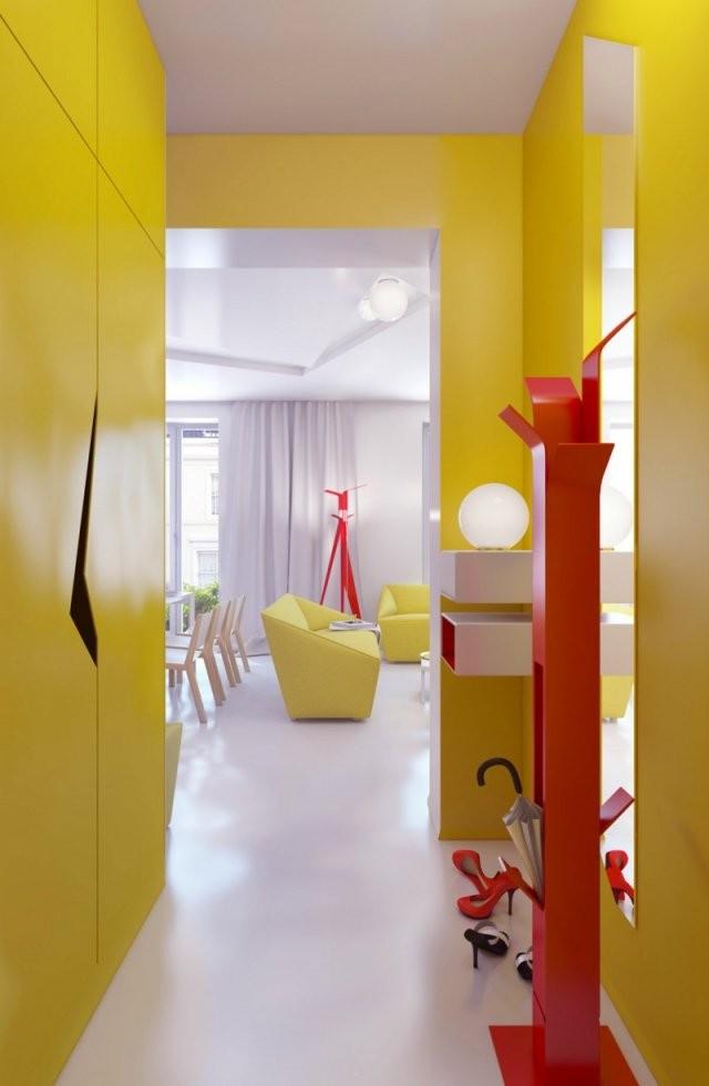 62 Ideen Für Farbgestaltung Im Flur Und Eingangsbereich von Farbgestaltung Flur Mit Treppe Bild