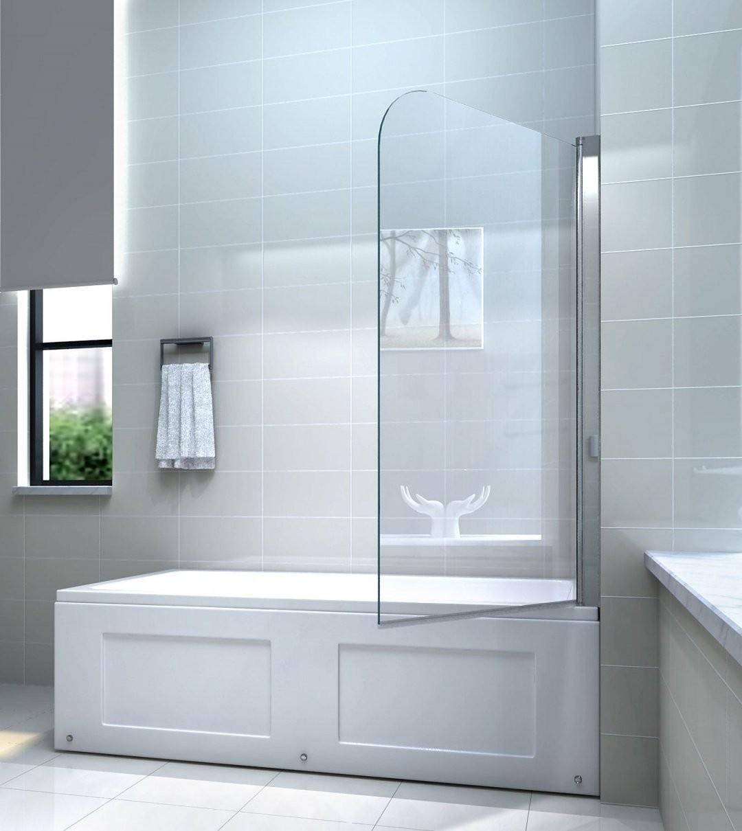 6Mm Glas Duschwand Für Badewannen Badewannenaufsatz Duschabtrennung von Duschwand Glas Für Badewanne Bild