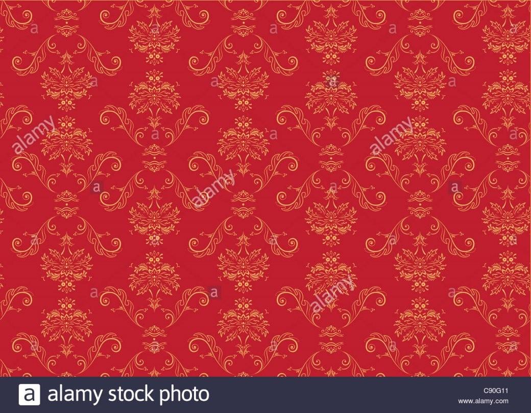 Abbildung Der Rote Elegante Viktorianische Retro Motiv Tapete Muster von Rote Tapete Mit Muster Bild