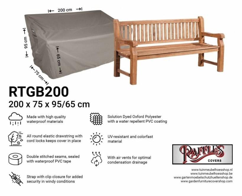 Abdeckung Für Große Gartenbank 200 X 75 Cm von Gartenbank Abdeckung 180 Cm Photo
