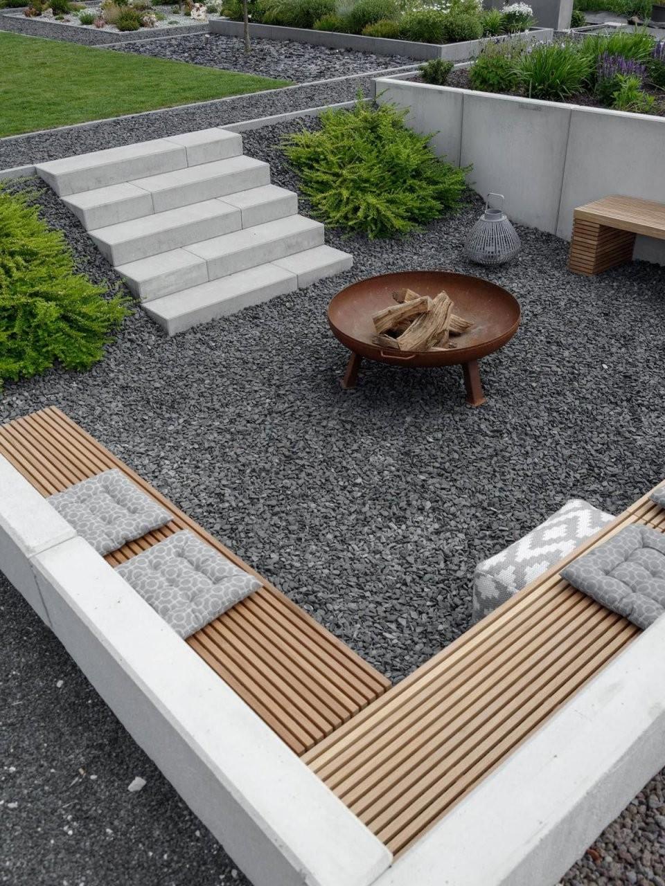 Abgesenkte Feuerstelle Im Garten Gardendesign  Garten von Feuerstelle Im Garten Bilder Photo