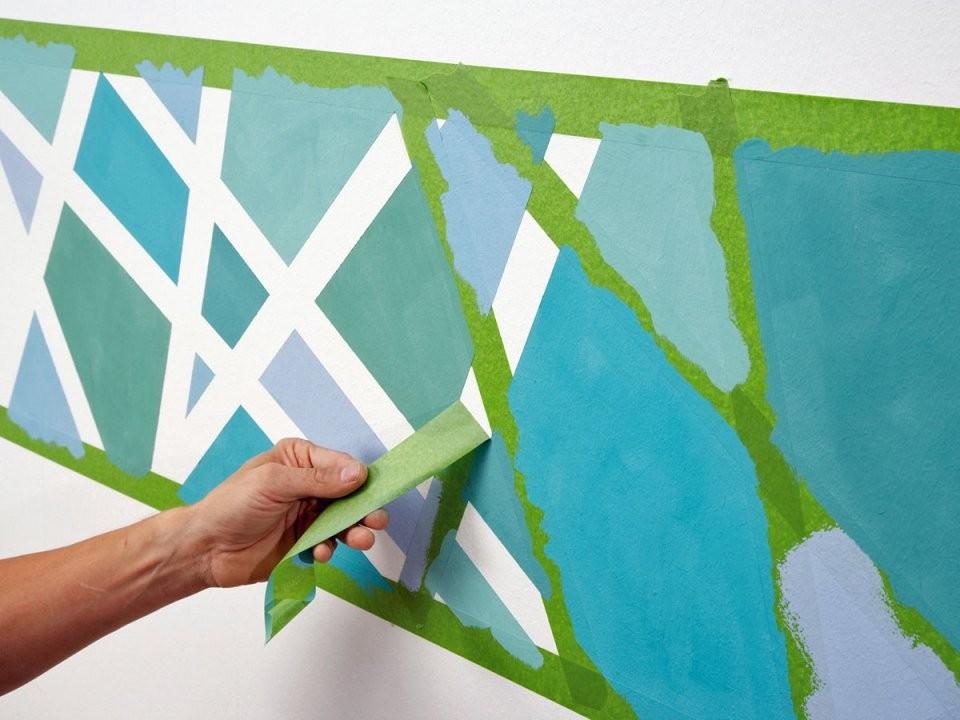 """Abklebetechnik Klebeband """"Frogtape"""" Im Test von Wand Streichen Muster Abkleben Photo"""