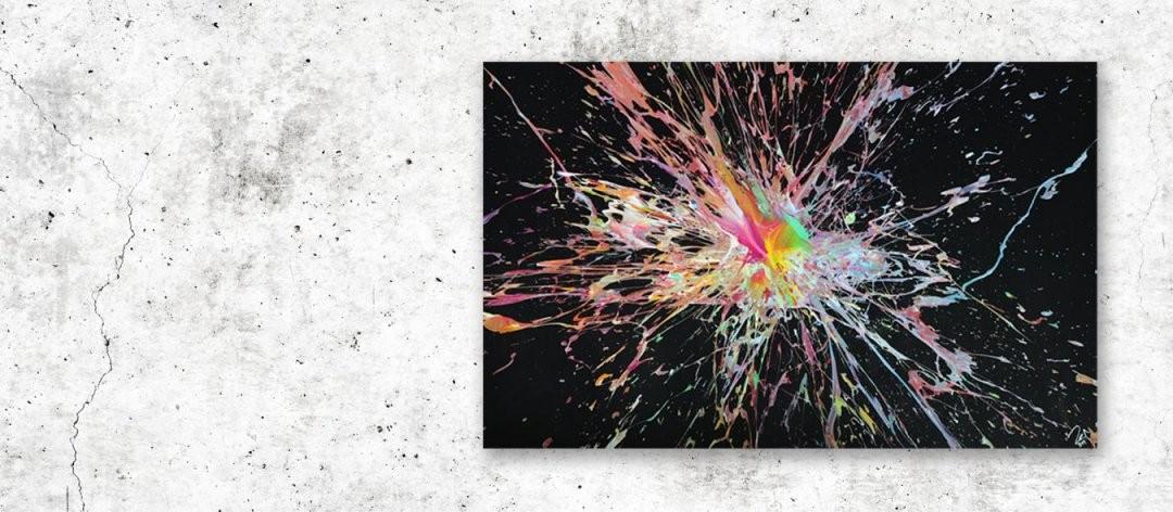 Abstrakte Acrylbilder In Xxl  1369 Moderne Gemälde  Kunst Kaufen von Moderne Bilder Selber Malen Photo