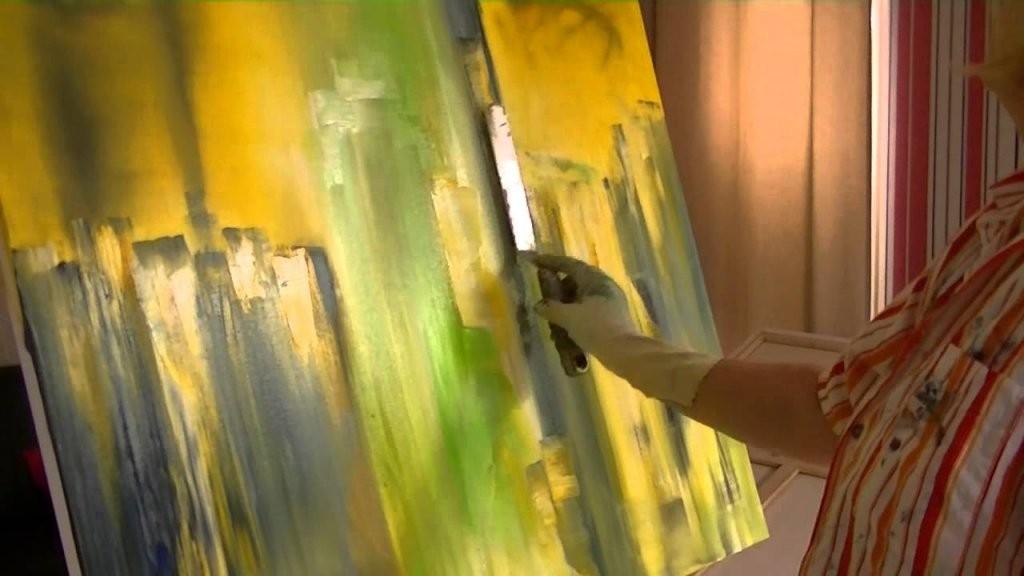 Abstrakte Malerei Lernen Speed Version  Youtube von Abstrakte Acrylbilder Selber Malen Bild